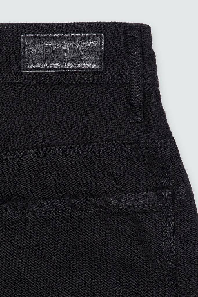 Black Denim Baggy Shorts