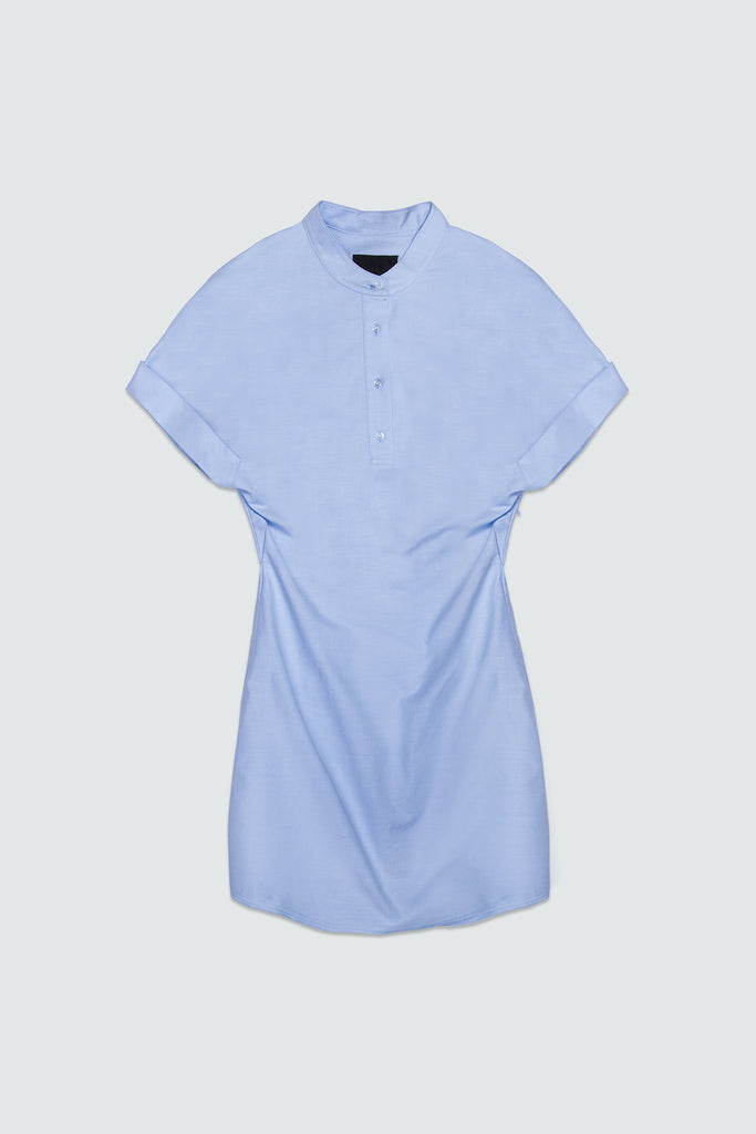 Blue Cotton Shirt Dress