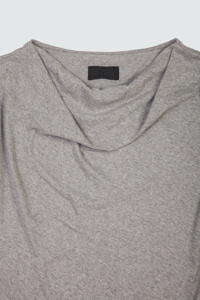 Grey Cashmere Blend Cowl Neck Top