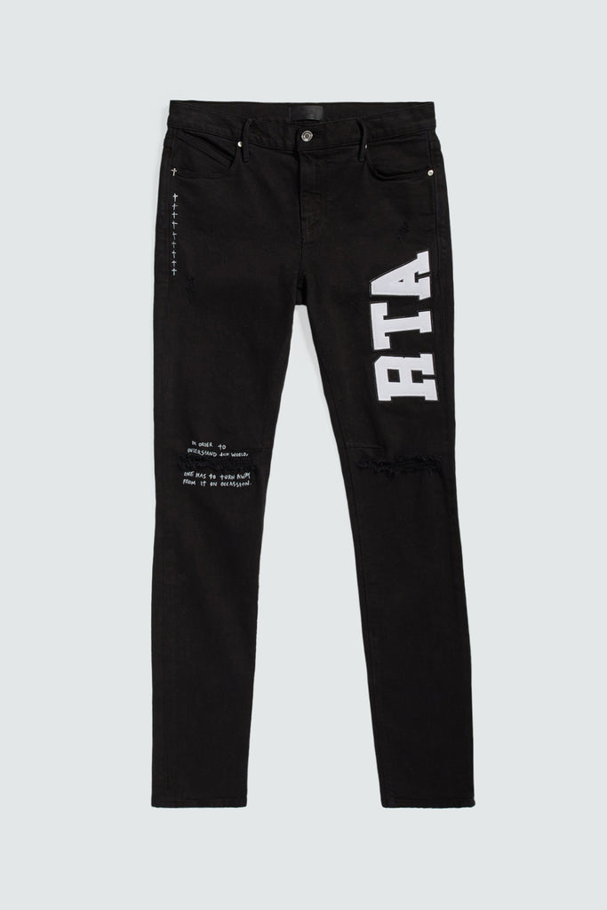 COLLEGIATE SKINNY 1 JEAN | UNIVERSITY BLACK (PRE-ORDER)