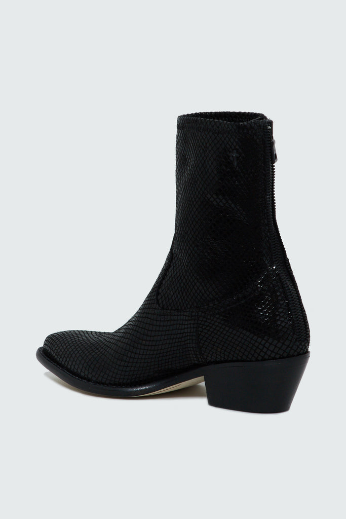 Women's Black Snake Embossed Leather Boots by RtA Brand