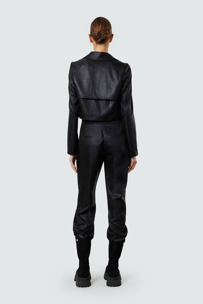 Black Jumpsuit with Attached Jacket
