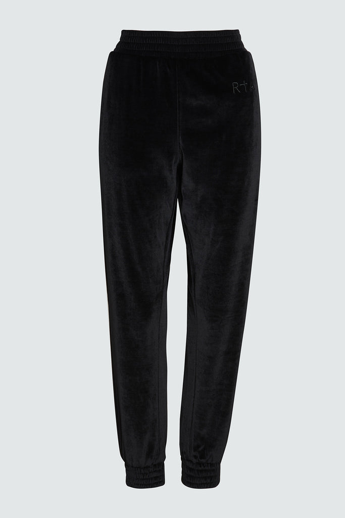 Black Velvet Sweatpant with RtA Embroidery