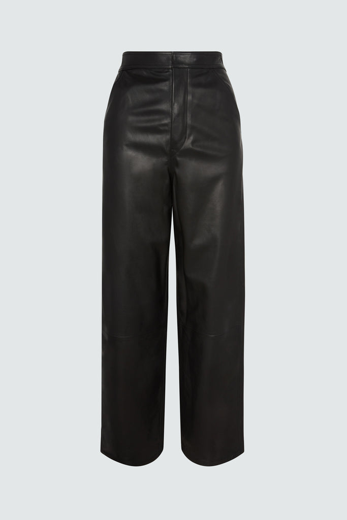 MANON PANT | BLACK LEATHER