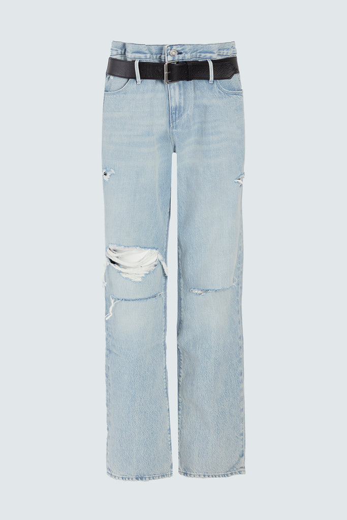 Light blue distressed jeans by RtA Brand for women
