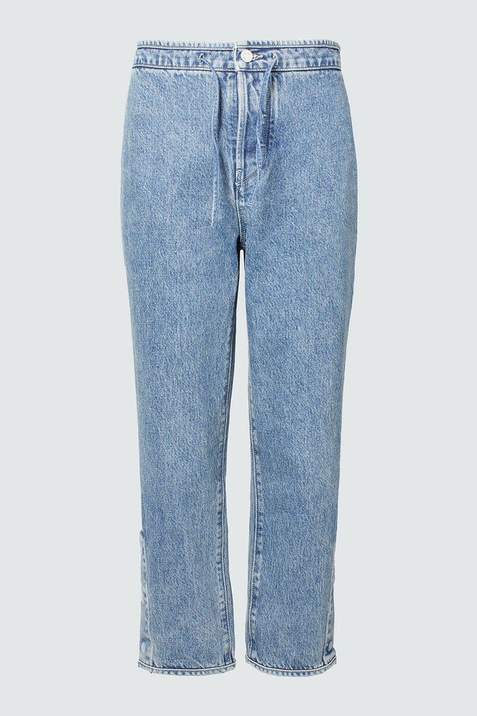 Blue Denim Cropped Pant