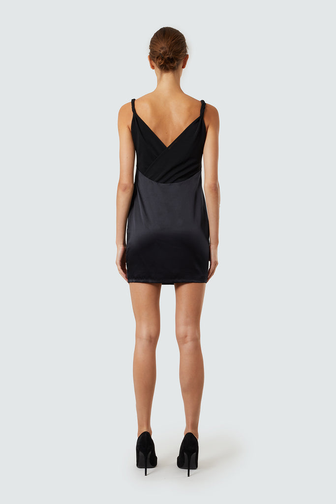 Black Silk Cami Slip