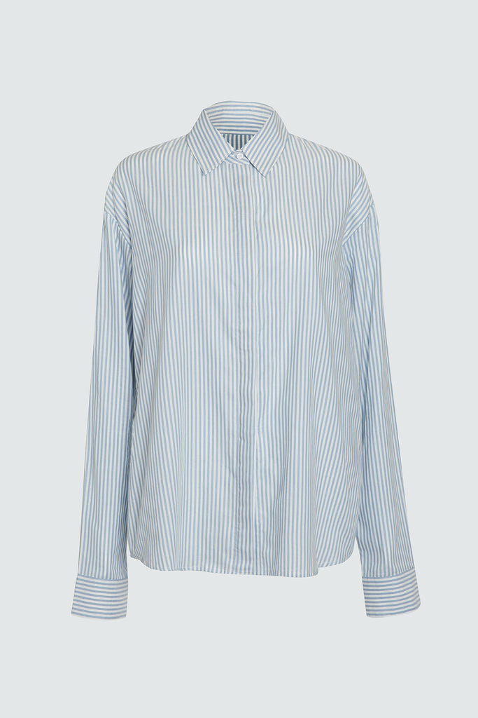 Striped Cotton Longsleeve Button Up