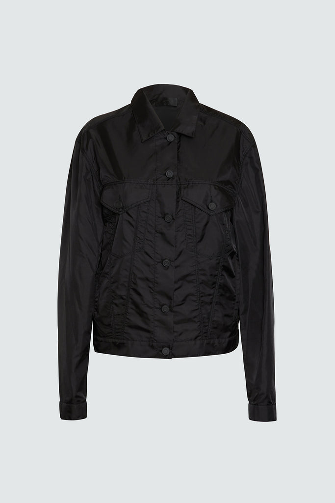 Black Nylon Flight Jacket