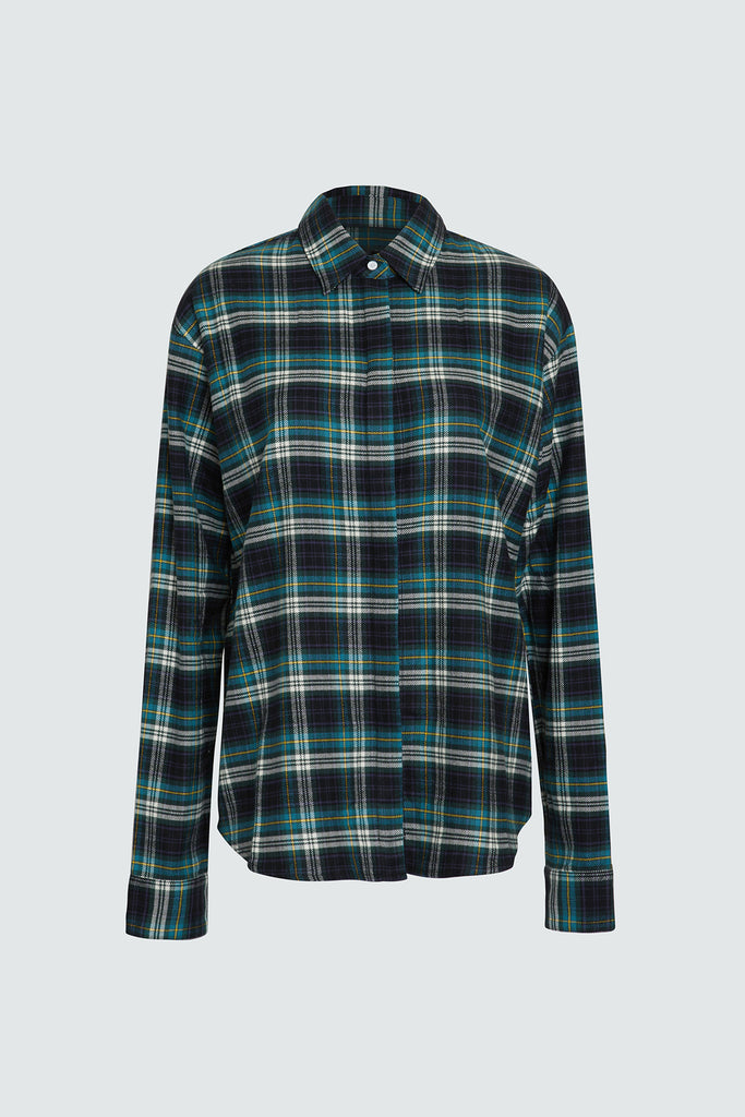 Plaid Cotton Oversized Button Up