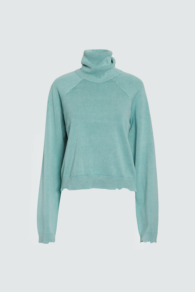 Mint Cotton Turtleneck Sweater