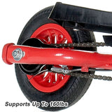 WingFlyer Z100 Elliptical Stepper Scooter Bike - Fire Engine Red