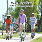 WingFlyer Z100 Elliptical Stepper Scooter Bike - Lime Green
