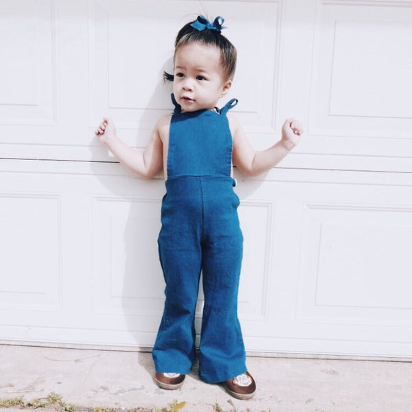 Denim Bellbottom Overall