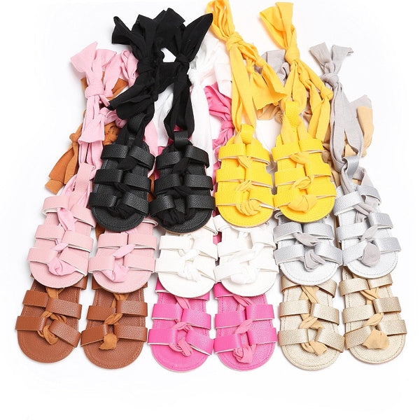 Ribbon Lace Up Sandal