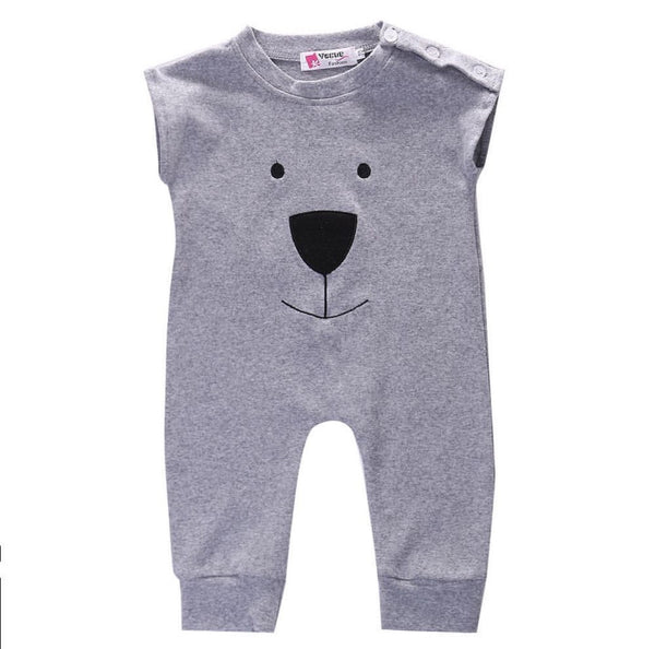 Gray Bear Romper