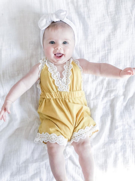 Little Beach Babe Lacey Romper