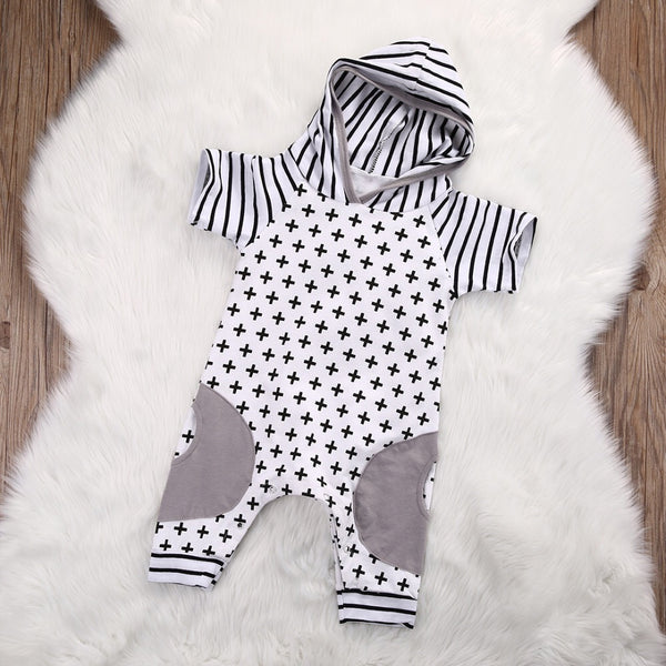 Modern Criss Cross Hooded Romper