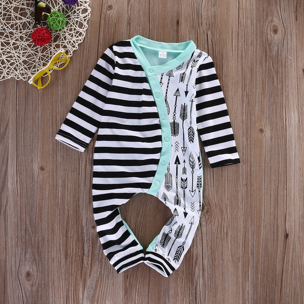 Striped Arrow Romper