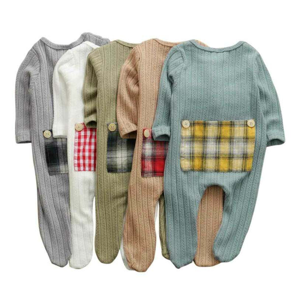Plaid Patchwork Romper