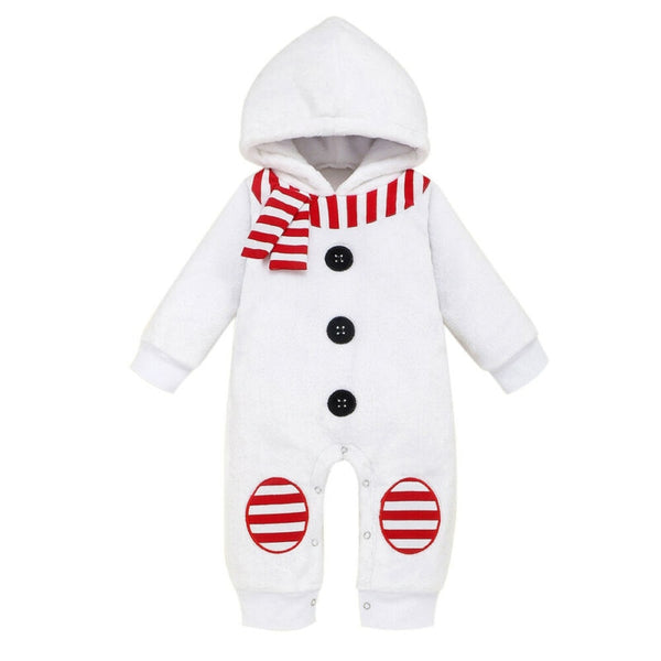 Little Snowman Hooded Romper