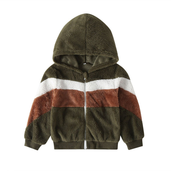 Color Block  Fleece Jacket