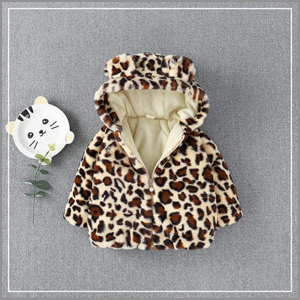 Little Leopard Fleece Coat