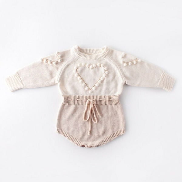 Lovely Heart Knitted Romper