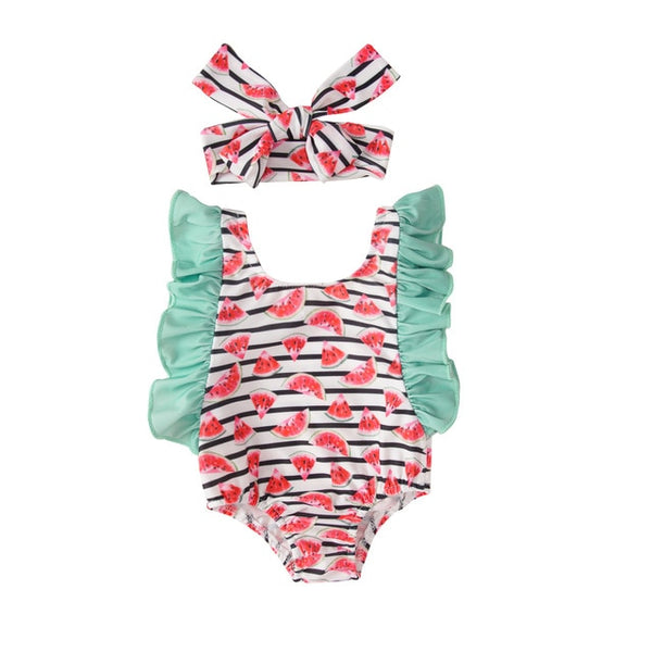 Ruffled Watermelon Swimsuit