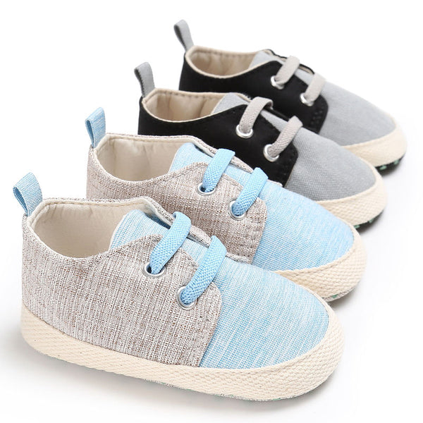 WONBO Baby First Walkers Baby Shoes Fashion Patchwork Canvas Toddler Shoe for Babies