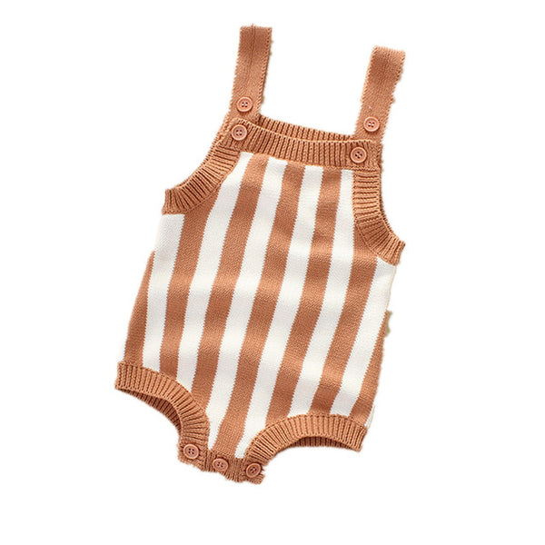 Striped Knit Romper