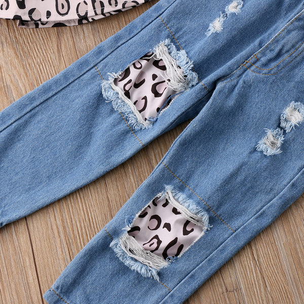 Leopard Denim Set