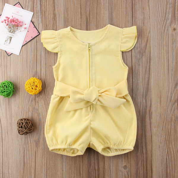 Yellow Ruffle Romper