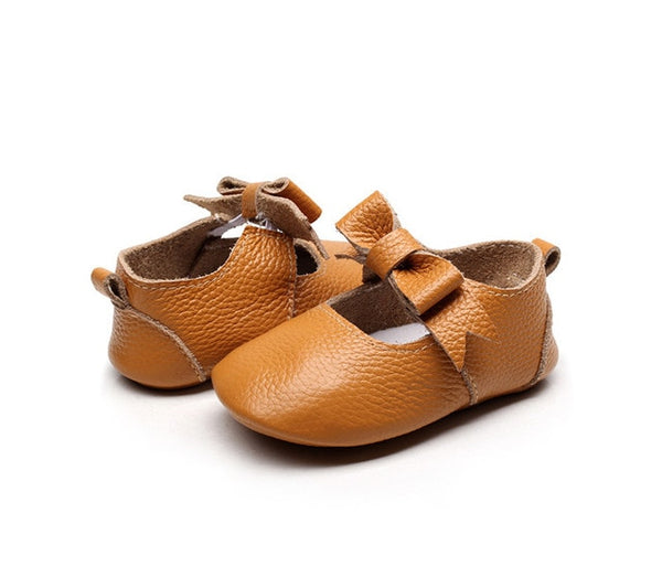 Matilda Leather Bow Moccasin