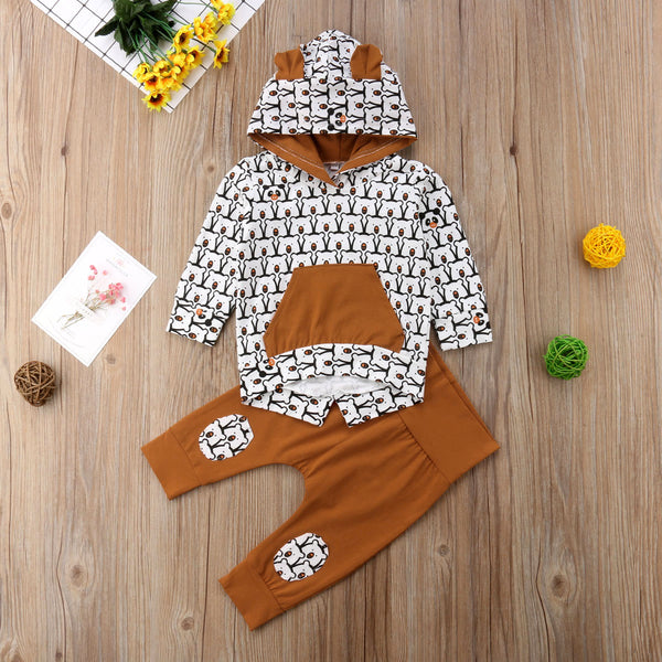 Little Bear Hoodie Set