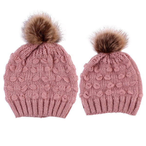 Mommy and Me Pom Beanie