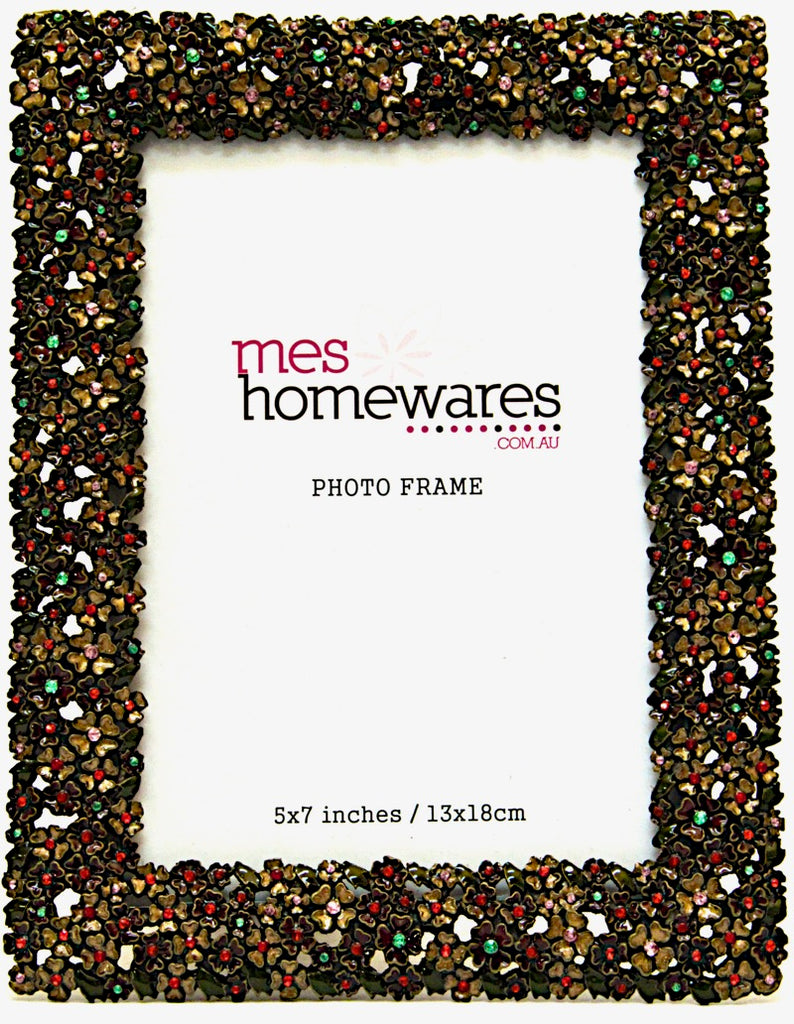 Photo Frame Flowers and Beads