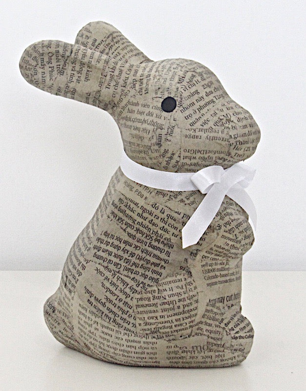 Rabbit Recycled Newspaper