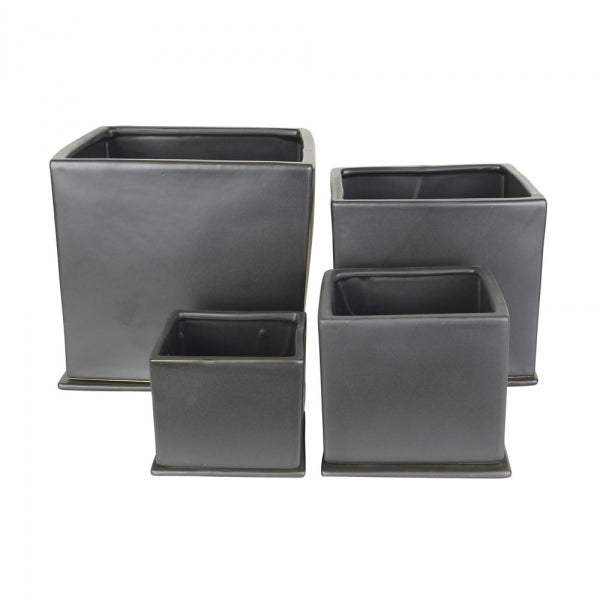 Square Planters Charcoal