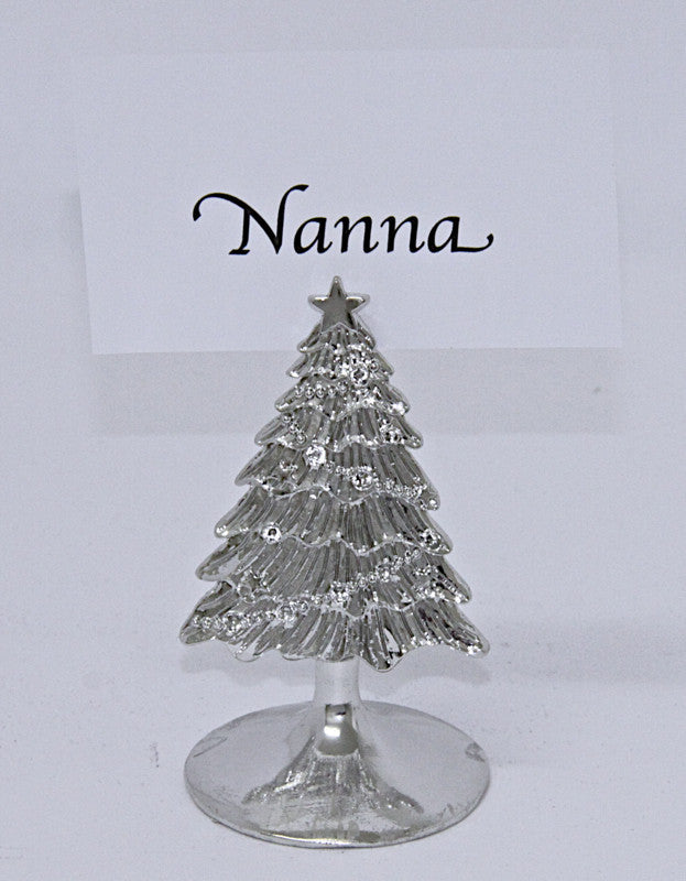 Christmas Decoration Tree Place Card Holder