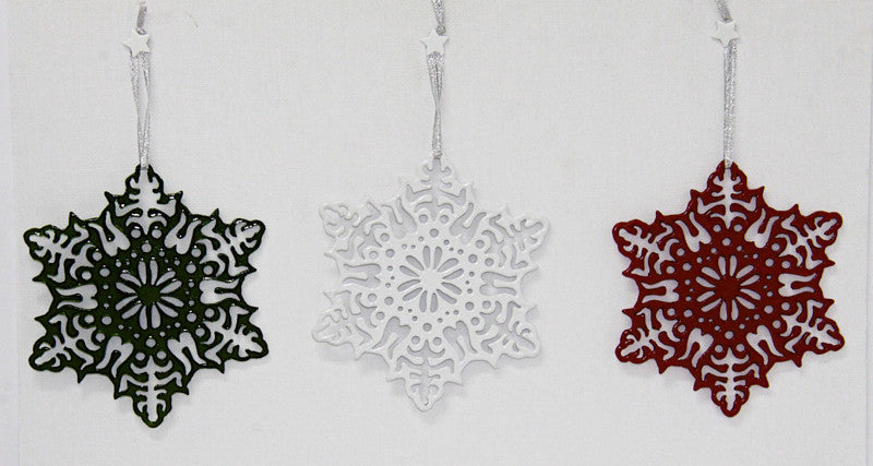 Christmas Decoration – Filigree Decoration Red