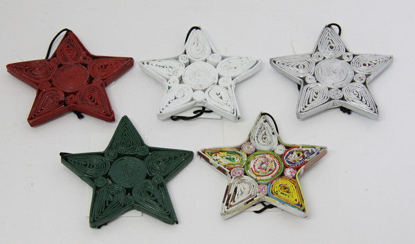 Christmas Decoration Paper Star Multicolor