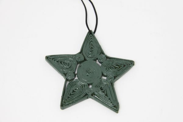Christmas Decoration Paper Star Green