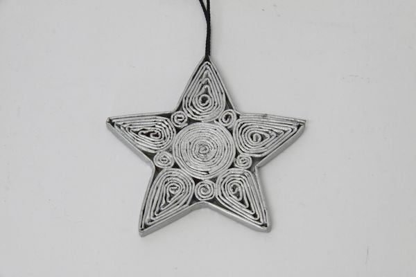 Christmas Decoration Paper Star Silver