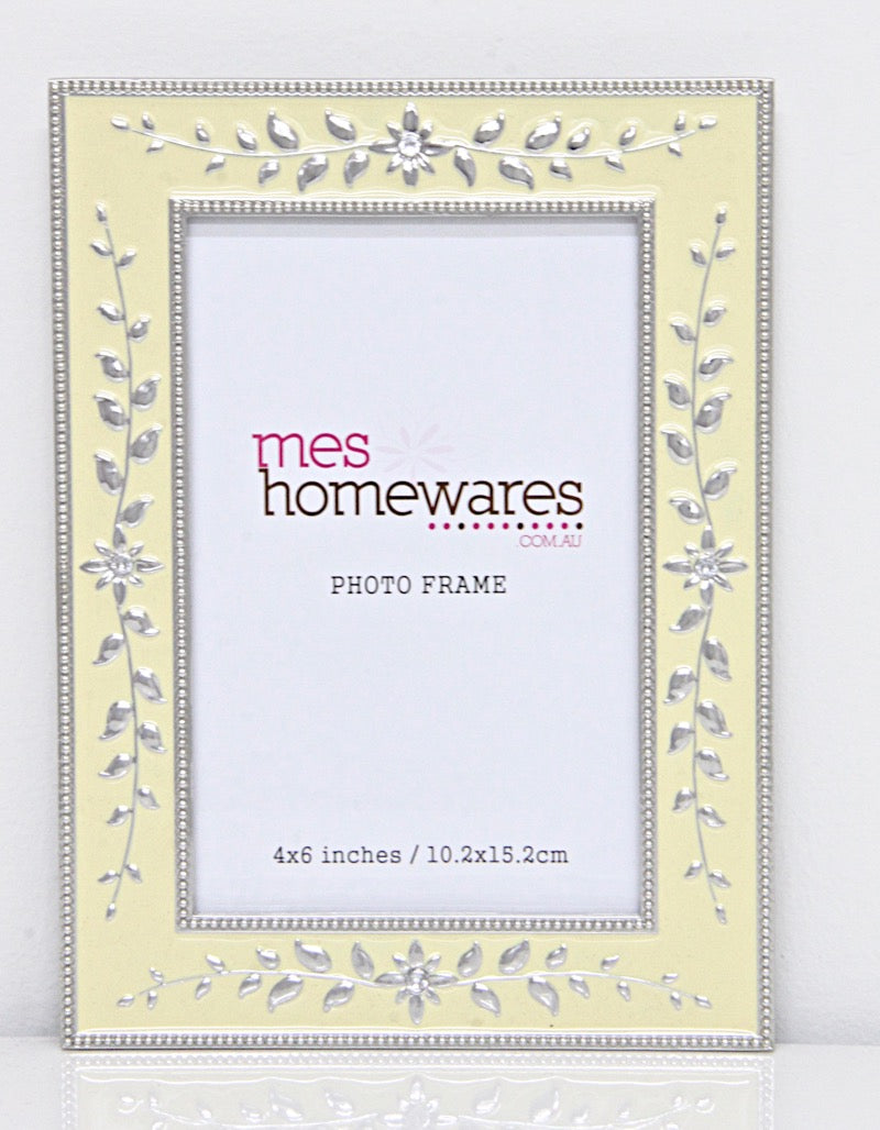 Photo Frame Square Face Leave border 4×6