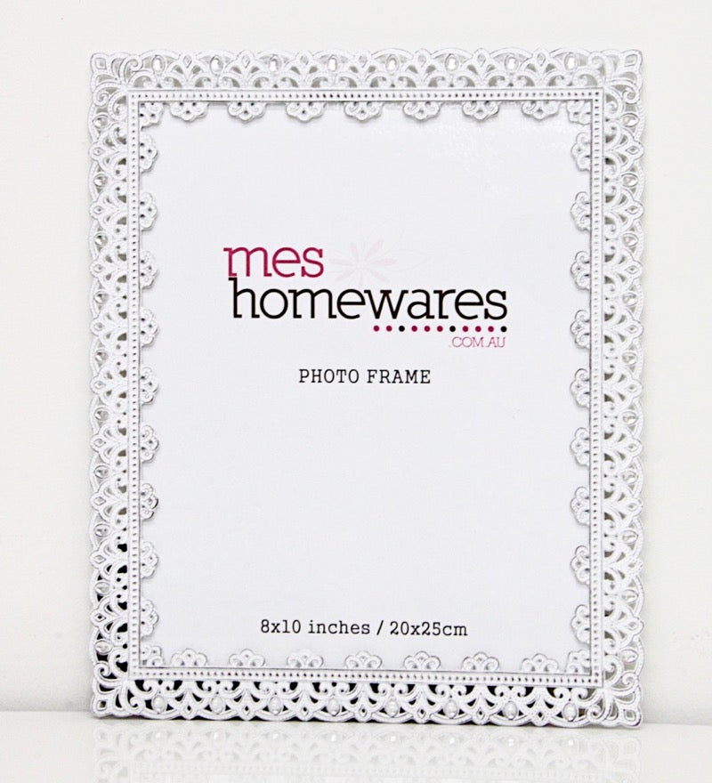 Photo Frame Victoria Lace White 4×6