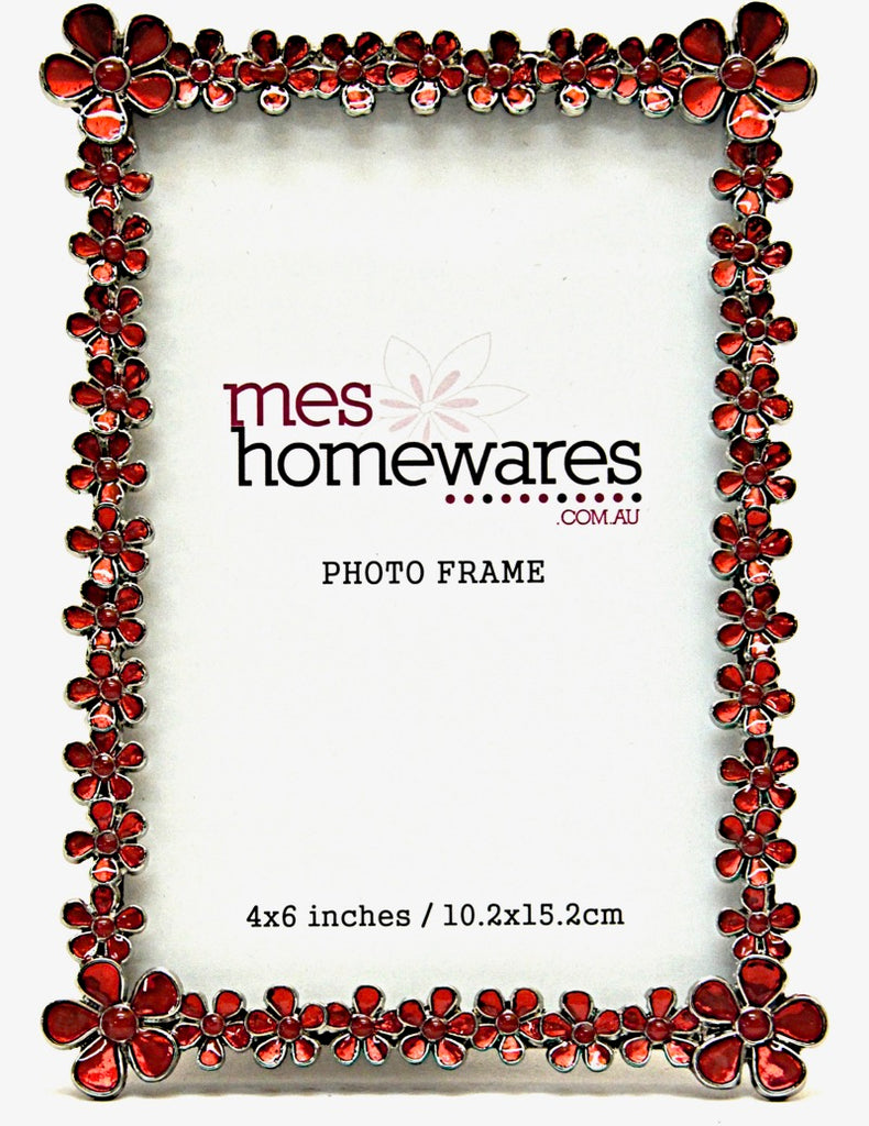 Photo Frame Red Flowers 4×6