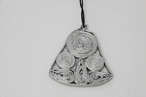 Christmas Decoration Paper Bell Silver