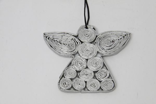 Christmas Decoration Paper Angel Silver
