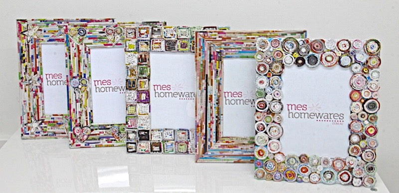 Photo Frame Paper Rounds Multicolour